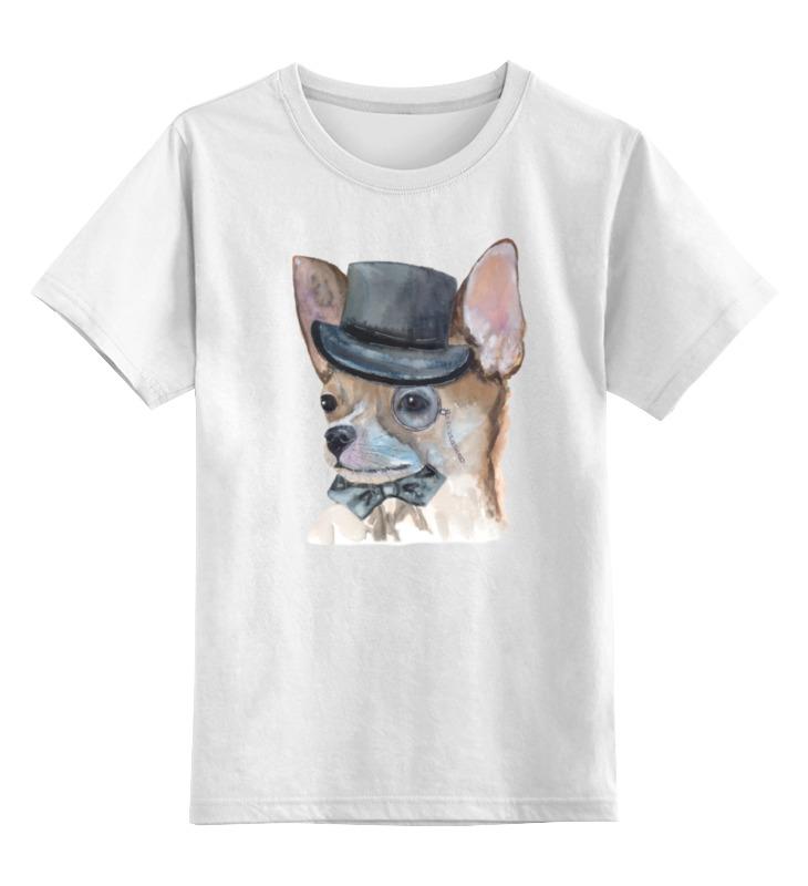 Детская футболка Printio Джентльмен цв.белый р.152 0000001219071 по цене 790