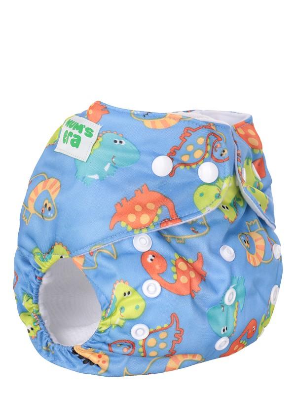 Подгузник детский многоразовый Mum's Era Дино голубой