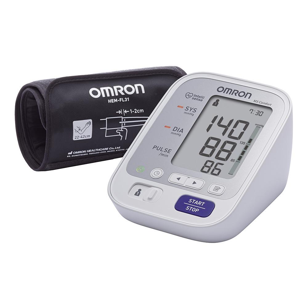 Купить Тонометр OMRON M3 Comfort с манжетой 22-42 см и адаптером (HEM-7134-ALRU)