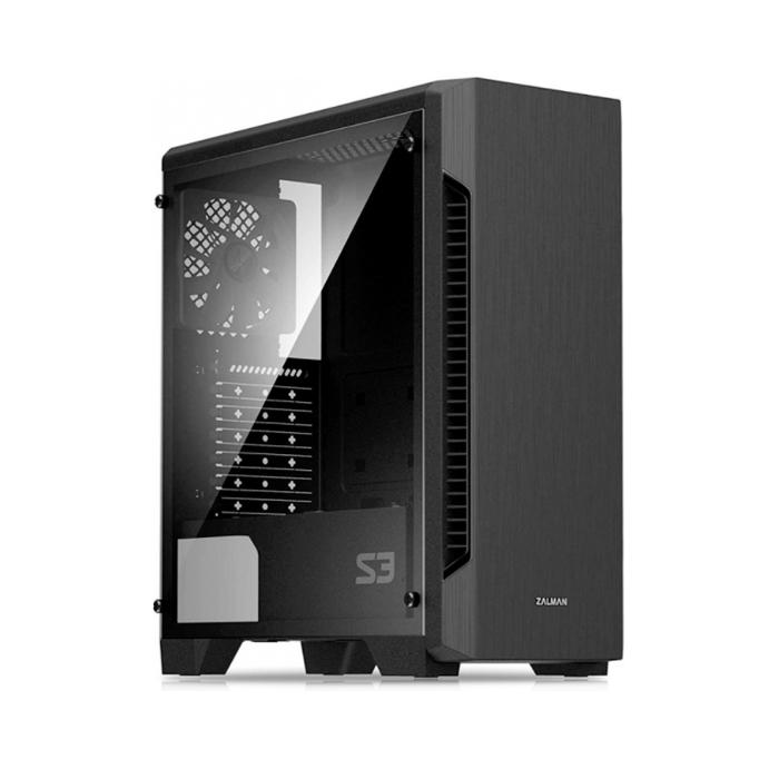 Корпус компьютерный Zalman S3 Tempered Glass Black