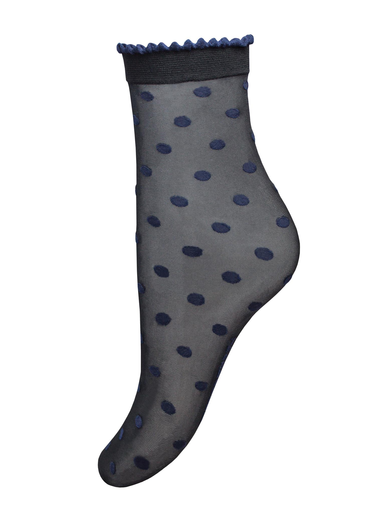 Капроновые носки женские Trasparenze Paul (c) UNI nero B (чёрные с рисунком)