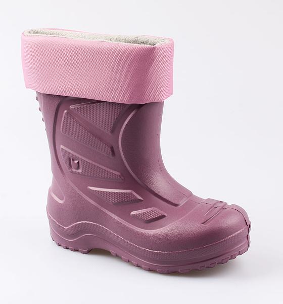 Резиновая обувь для девочек Котофей, цв. розовый, р-р 33