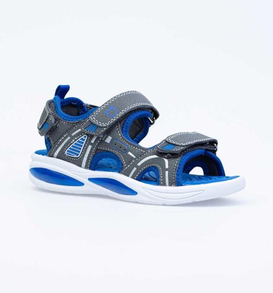 Купить 324021, Пляжная обувь для мальчиков Котофей, цв. серый, синий, р-р 34,