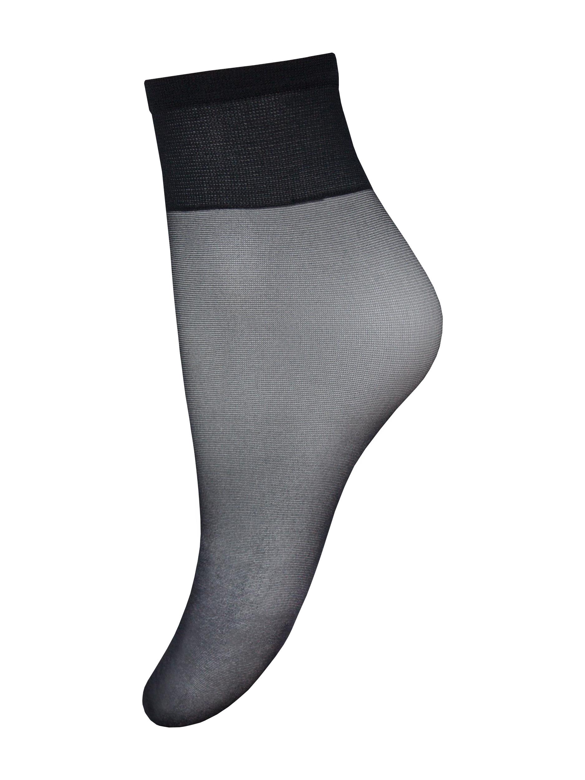 Капроновые носки женские Mademoiselle Silvia 20 (c.) 3 paia UNI nero (чёрные)
