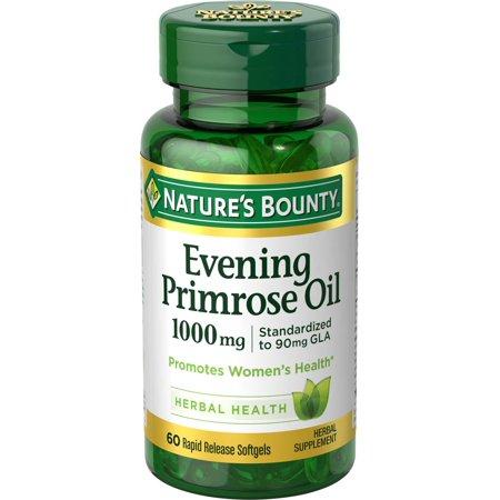 Купить Баунти масло примулы вечерней, Масло примулы вечерней Nature's Bounty Evening Primrose Oil 1000 мг капсулы 60 шт.