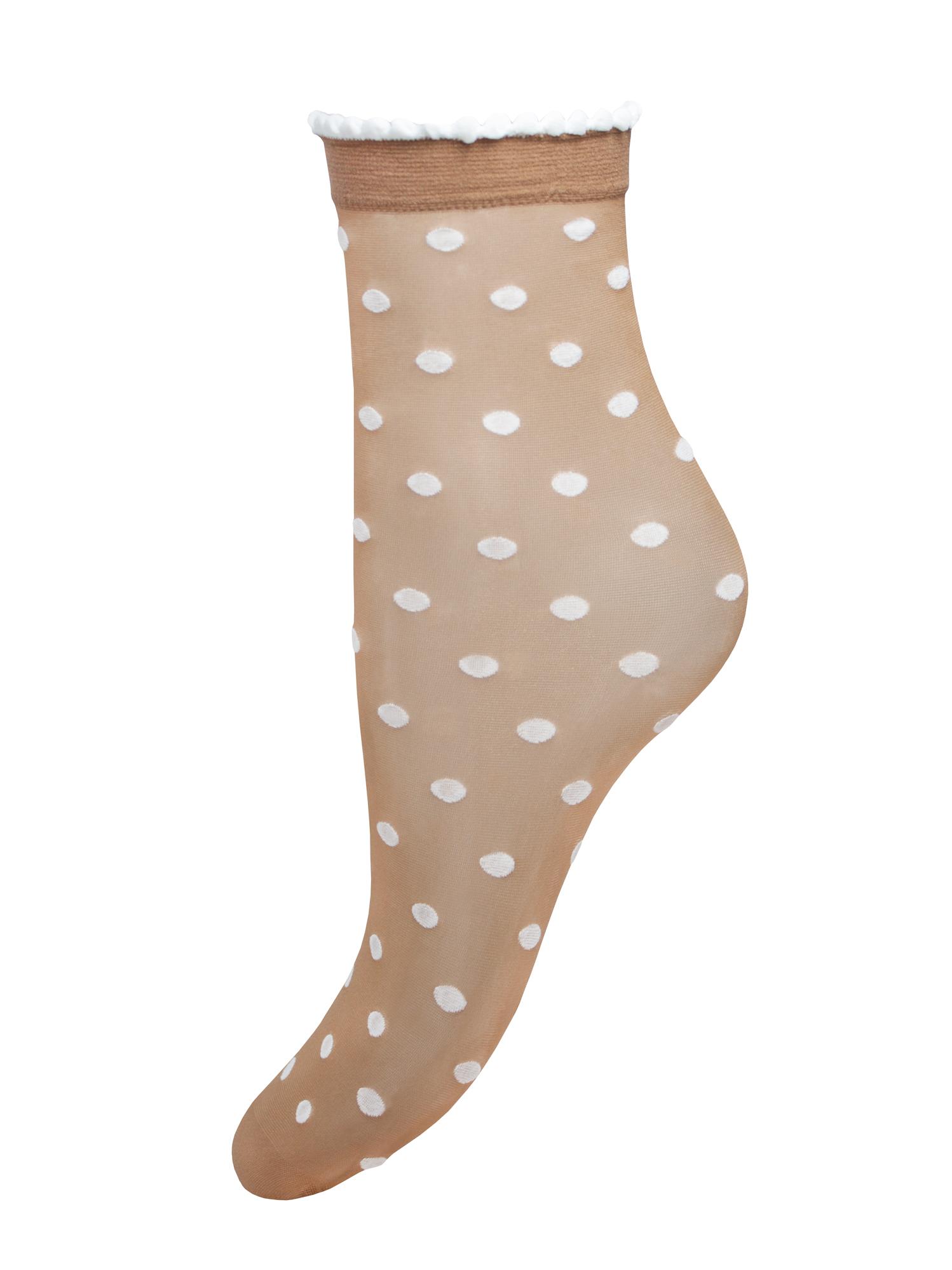Капроновые носки женские Trasparenze Paul (c) UNI fango A (лёгкий загар с рисунком)