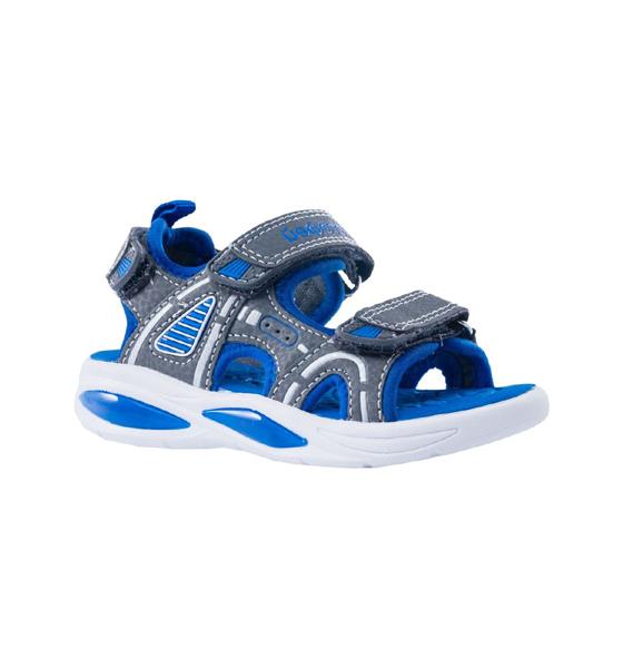 Купить 324021, Пляжная обувь для мальчиков Котофей, цв. серый, синий, р-р 25,