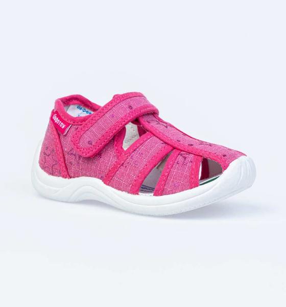 Текстильная обувь для девочек Котофей, цв. фуксия, р-р 22