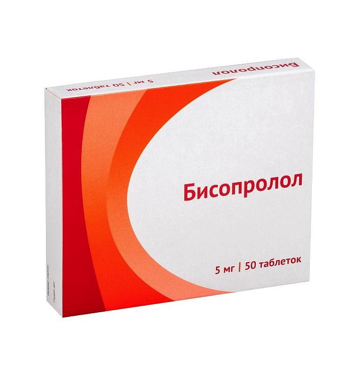 Купить Бисопролол таблетки 5 мг 50 шт., Озон ООО