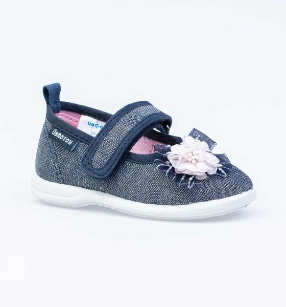 Текстильная обувь для девочек Котофей, цв. синий, р-р 24