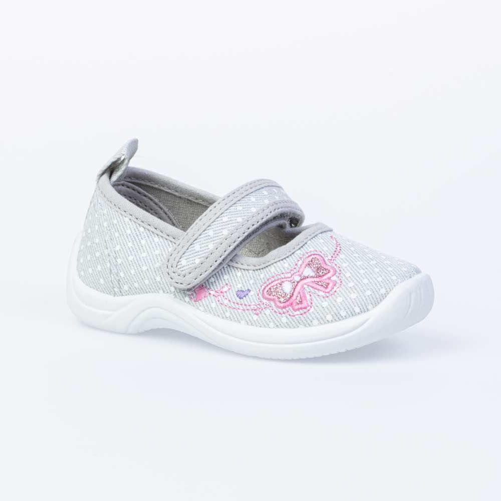 Купить 231170-12, Текстильная обувь для девочек Котофей цв.серый р.24,