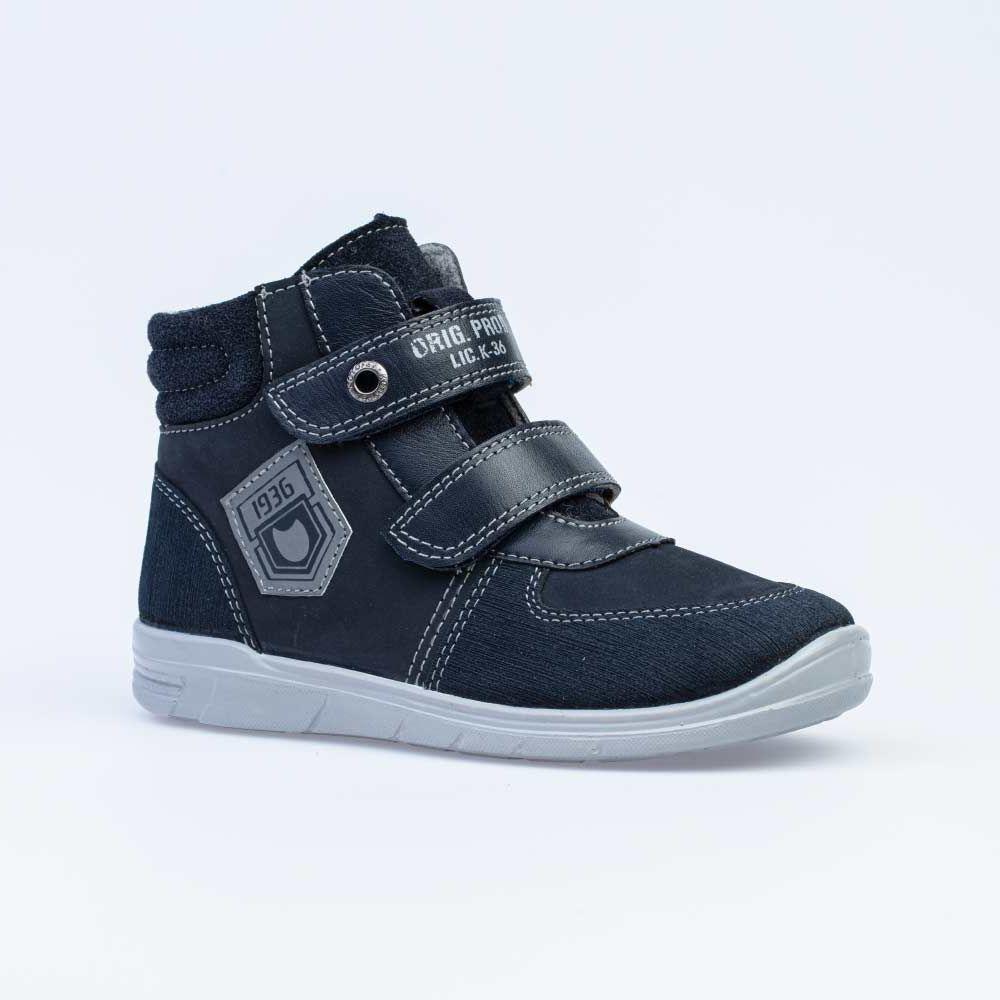 Купить 352296-31, Ботинки для мальчиков Котофей цв.синий р.27,