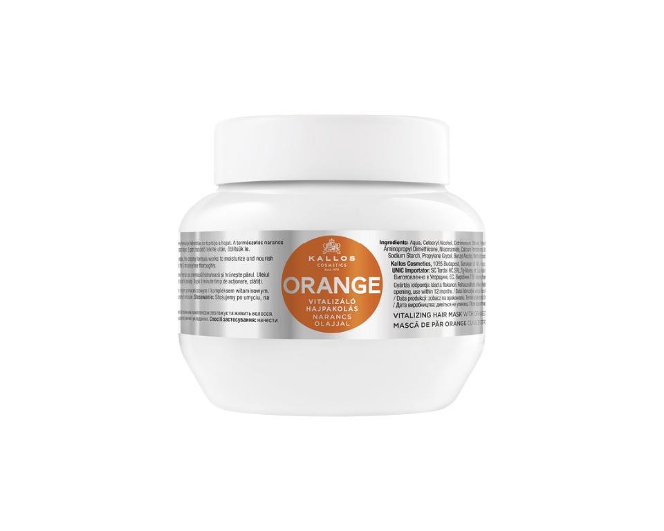 Купить Маска восстанавливающая для волос KALLOS KJMN с маслом апельсина, 275 мл, Kallos Cosmetics