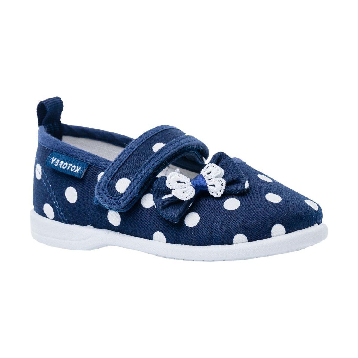 Купить 131134-11, Текстильная обувь для девочек Котофей цв.синий р.24,