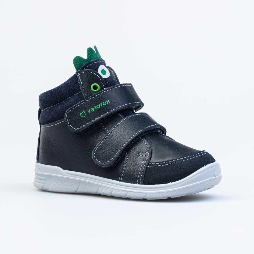 Купить 152303-22, Ботинки для мальчиков Котофей цв.синий, зеленый р.21,