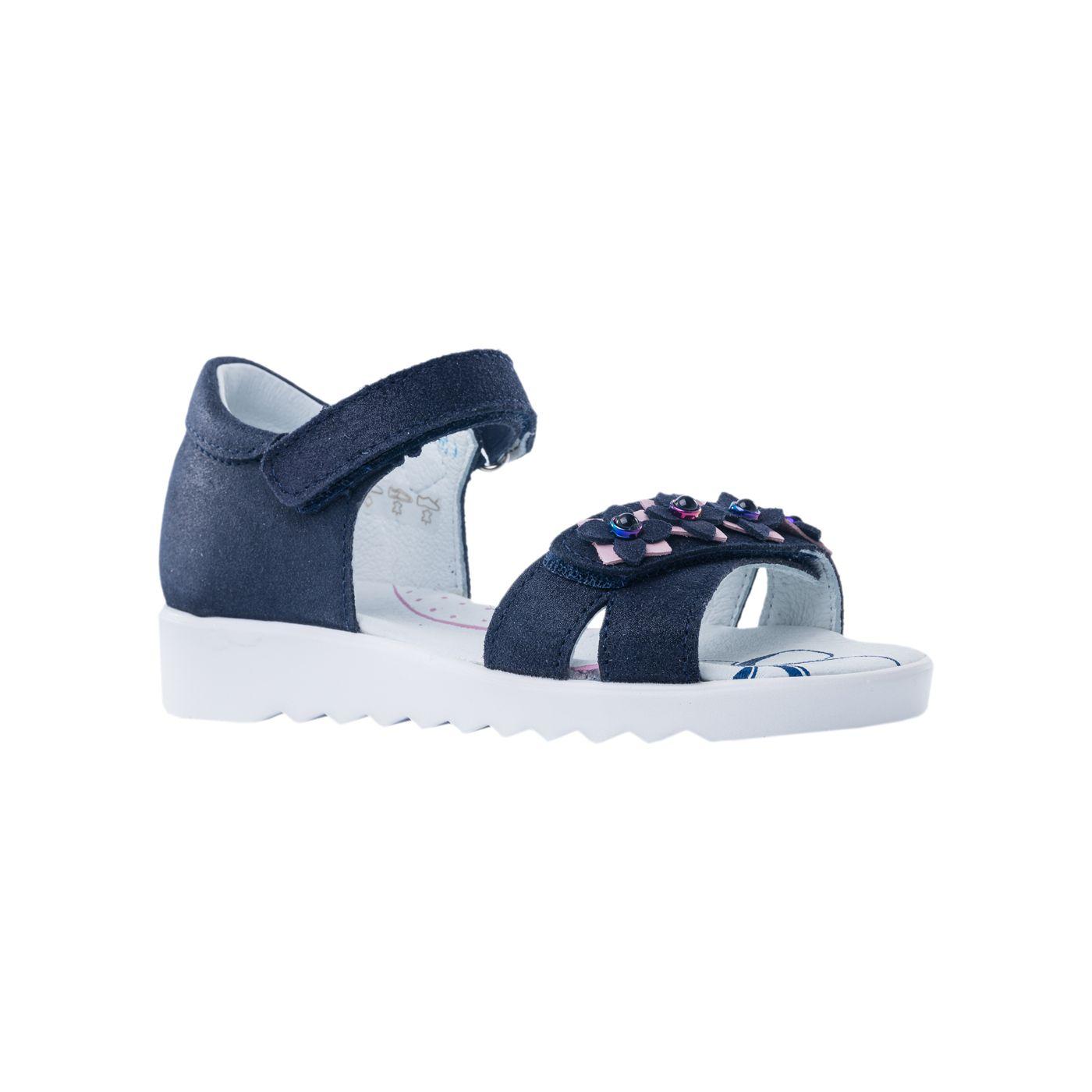 Сандалии (туфли летние) для девочек Котофей цв.синий р.33
