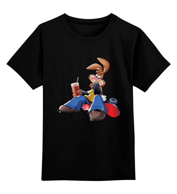 Детская футболка Printio Кролик цв.черный р.164 0000001212731 по цене 1 190