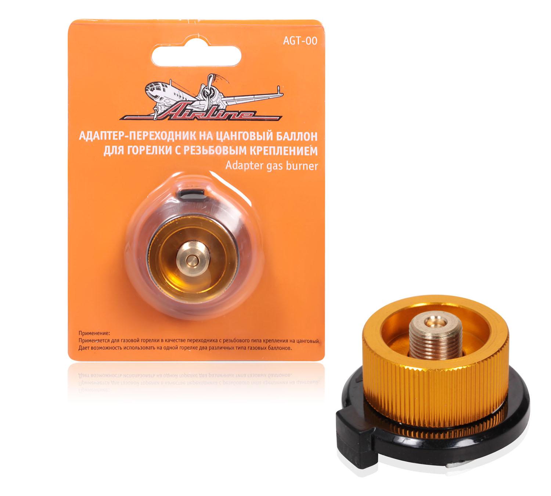 Адаптер-переходник на цанговый баллон для горелки с резьбовым креплением AIRLINE AGT-00