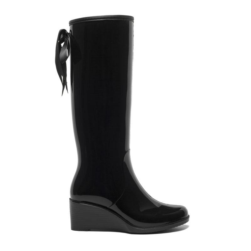 Резиновые сапоги женские Basconi 00000034950 черные 38 RU