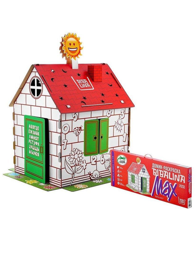 Купить Дом-раскраска BIBALINA с наклейками КДР03-003,