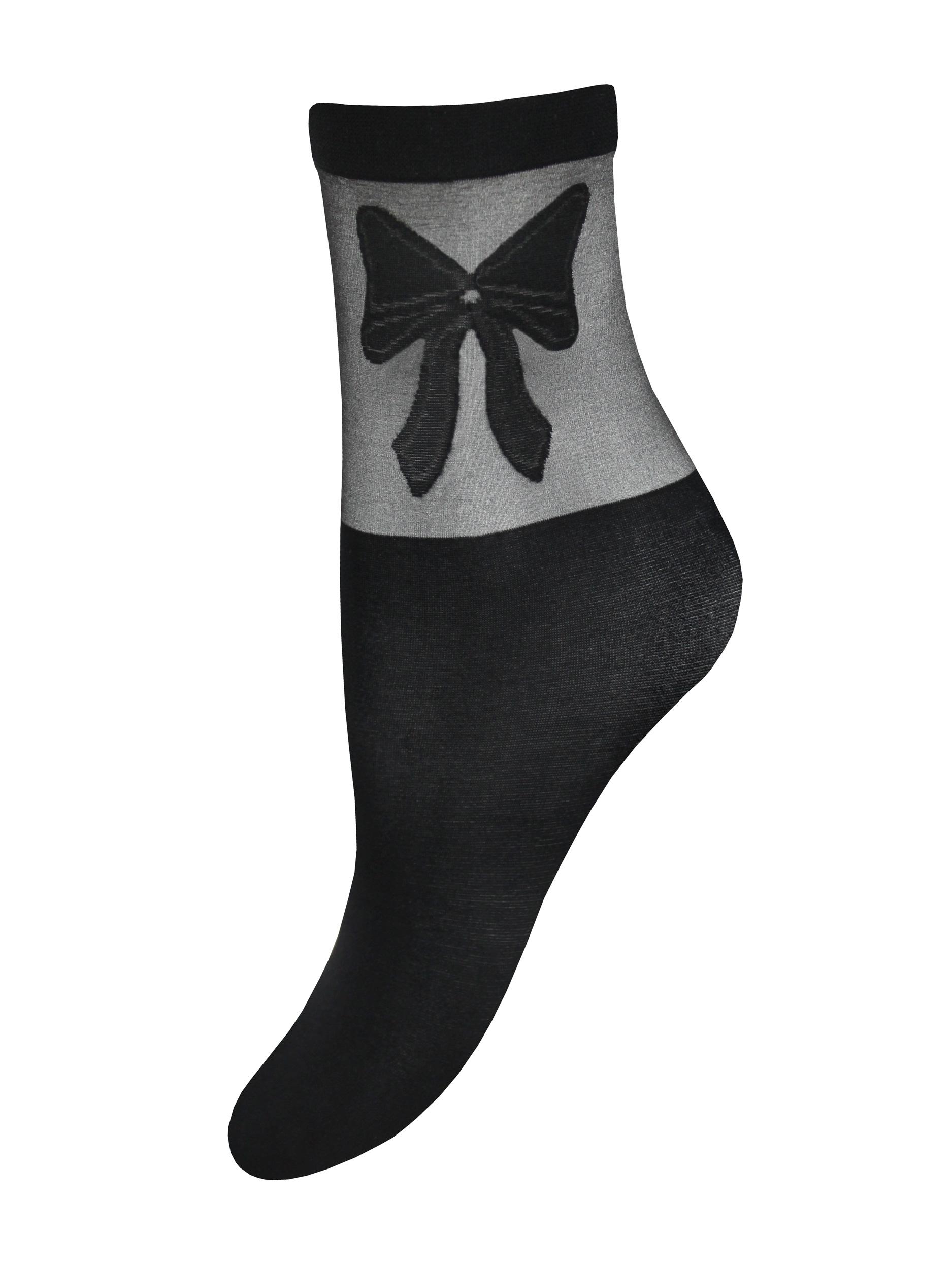 Капроновые носки женские Mademoiselle Ribbon (c.) UNI nero-nero (чёрные/черные)
