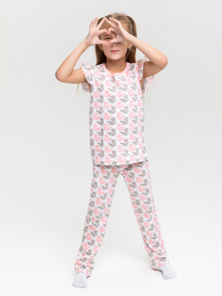 Пижама детская КотМарКот цв. белый р.116 2730924