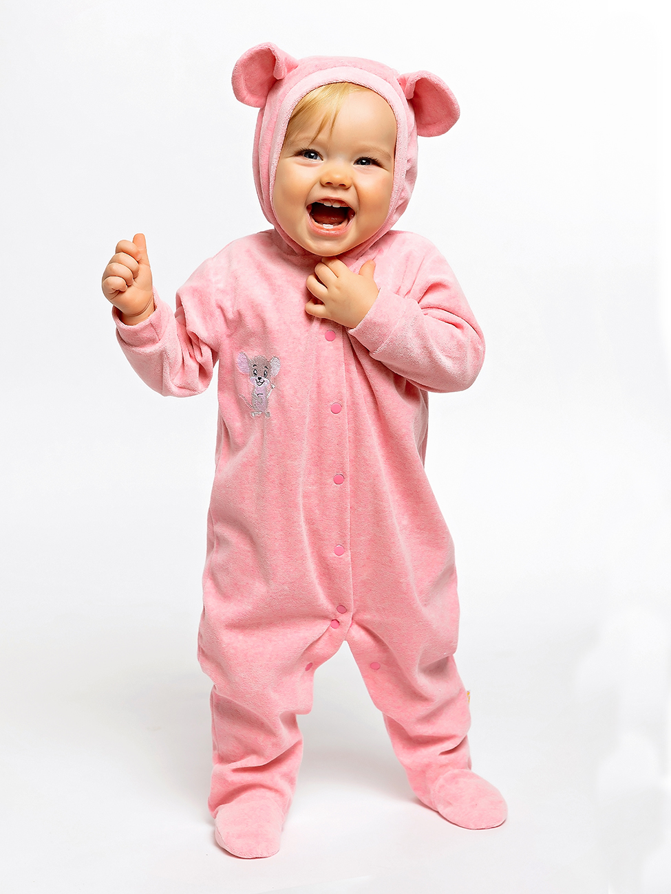 Купить 1106в, Комбинезон жетлый кот мышка розовый р.56, Желтый кот,