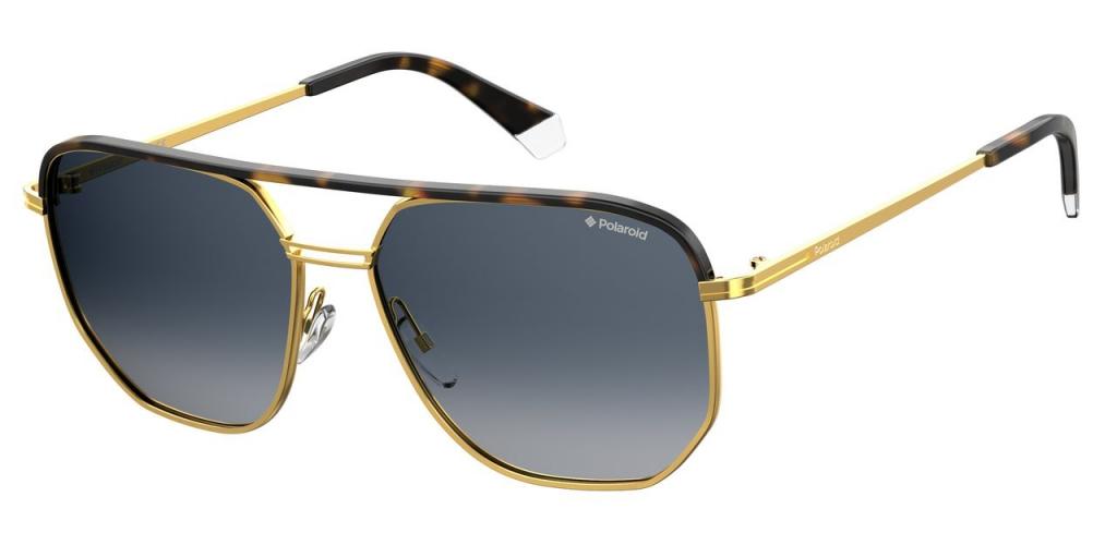 Солнцезащитные очки мужские POLAROID PLD 2090/S/X золотистые фото