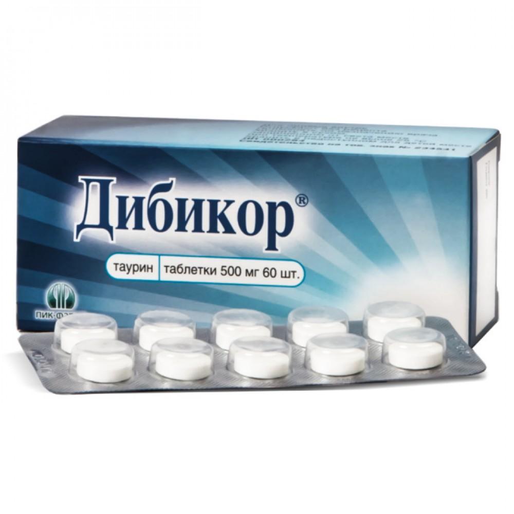 Купить Дибикор таблетки 500 мг 60 шт., Пик-Фарма