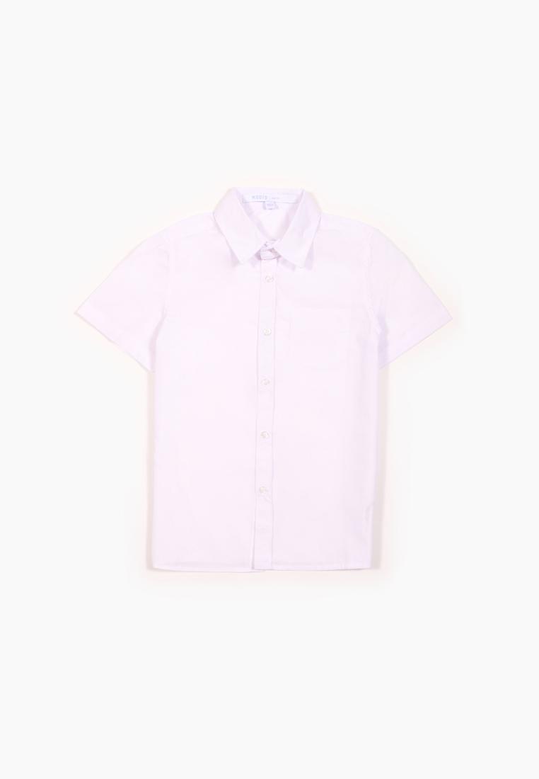 Рубашка для мальчиков Modis цв. белый р.140 M202K00154W001_белый