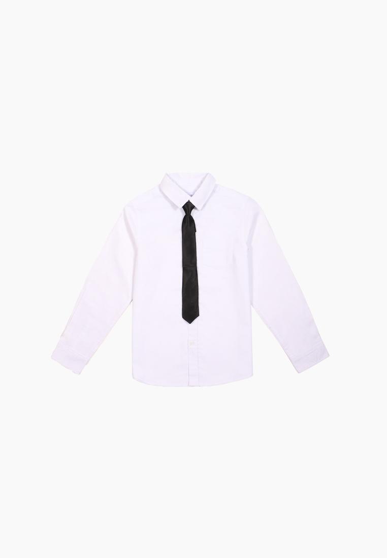 Рубашка и галстук для мальчиков Modis цв. белый р.122