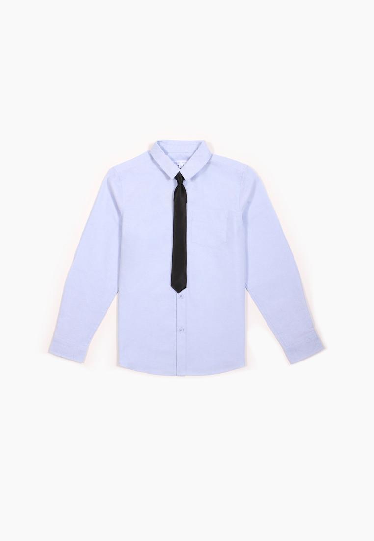 Рубашка и галстук для мальчиков Modis цв. голубой р.146