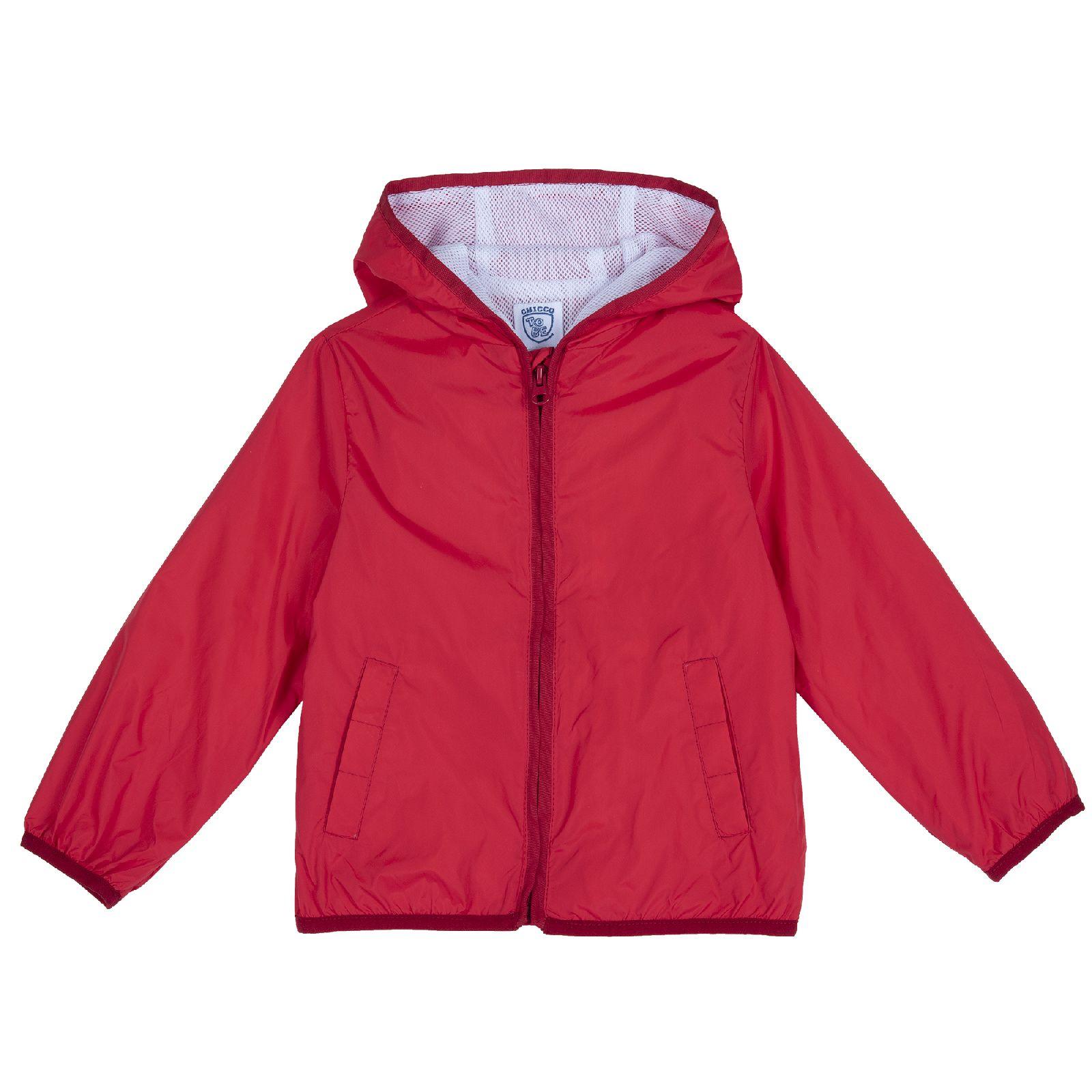 Купить 9087451, Куртка для мальчиков Chicco без принта, цвет красный, размер 122,