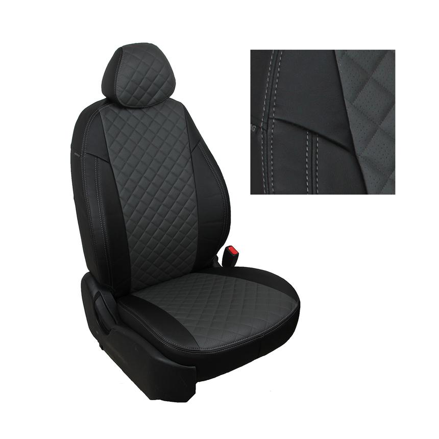 Чехлы на сиденья Nissan Primera P12 Sd/Hb/Wag с 02-07г. G BK/D.GY R / фото