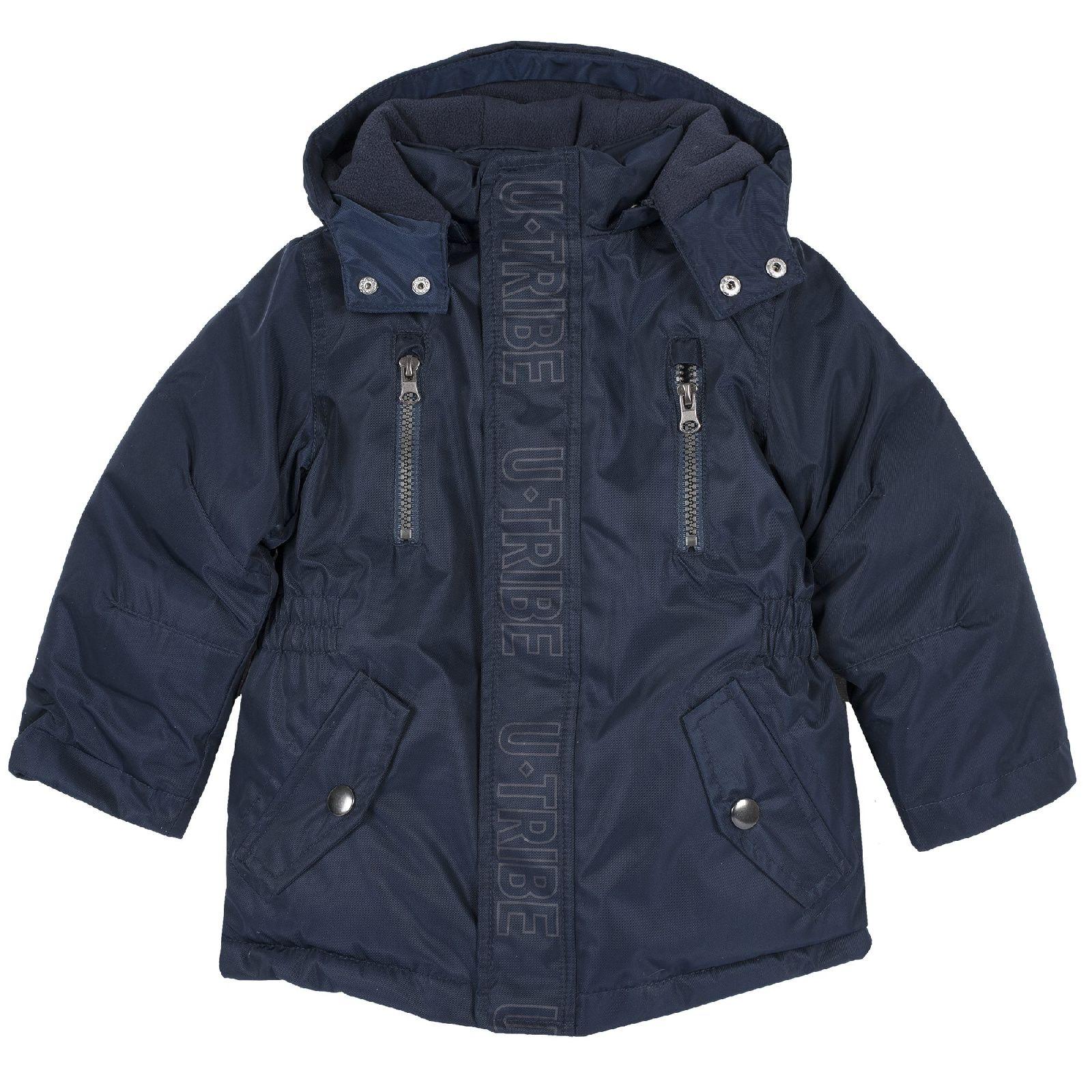 Купить 9087444, Куртка для мальчиков Chicco с отсегивающимся капюшоном, цвет темно-синий, размер 128,