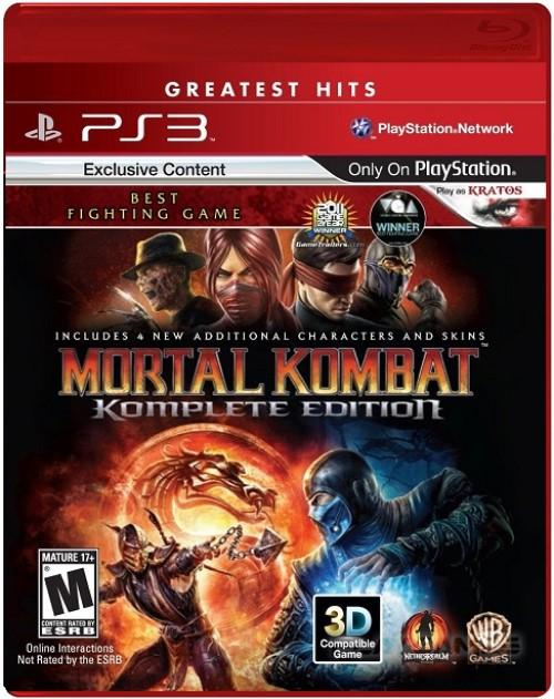 Игра Mortal Kombat. Komplete Edition для PlayStation