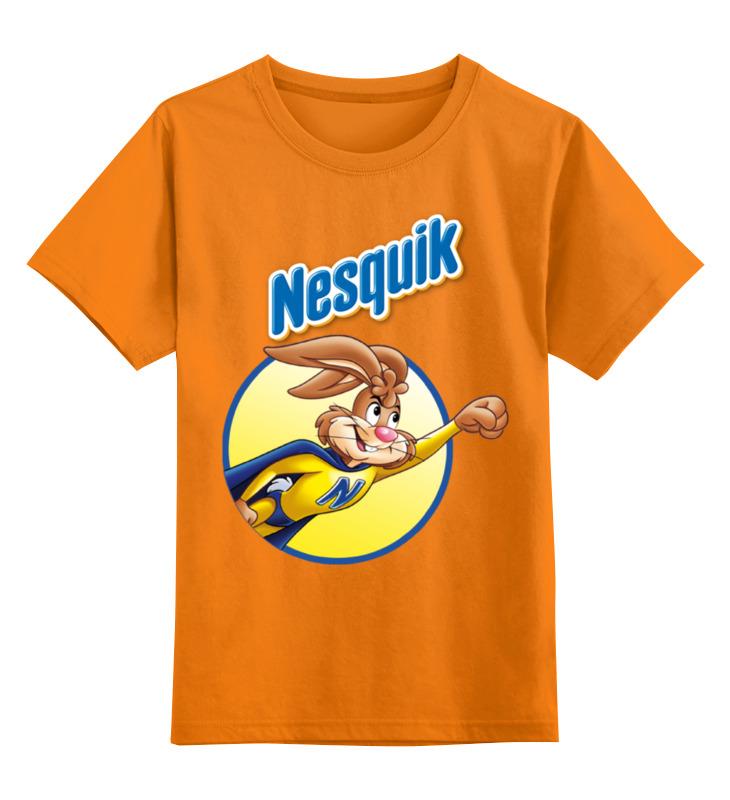 Купить 0000001212641, Детская футболка Printio Несквик цв.оранжевый р.116,