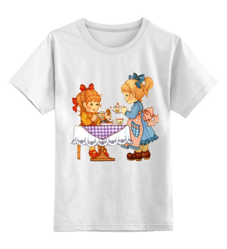 Детская футболка Printio Мы с подружкаю вдвоем... цв.белый р.128 0000001034499 по цене 790