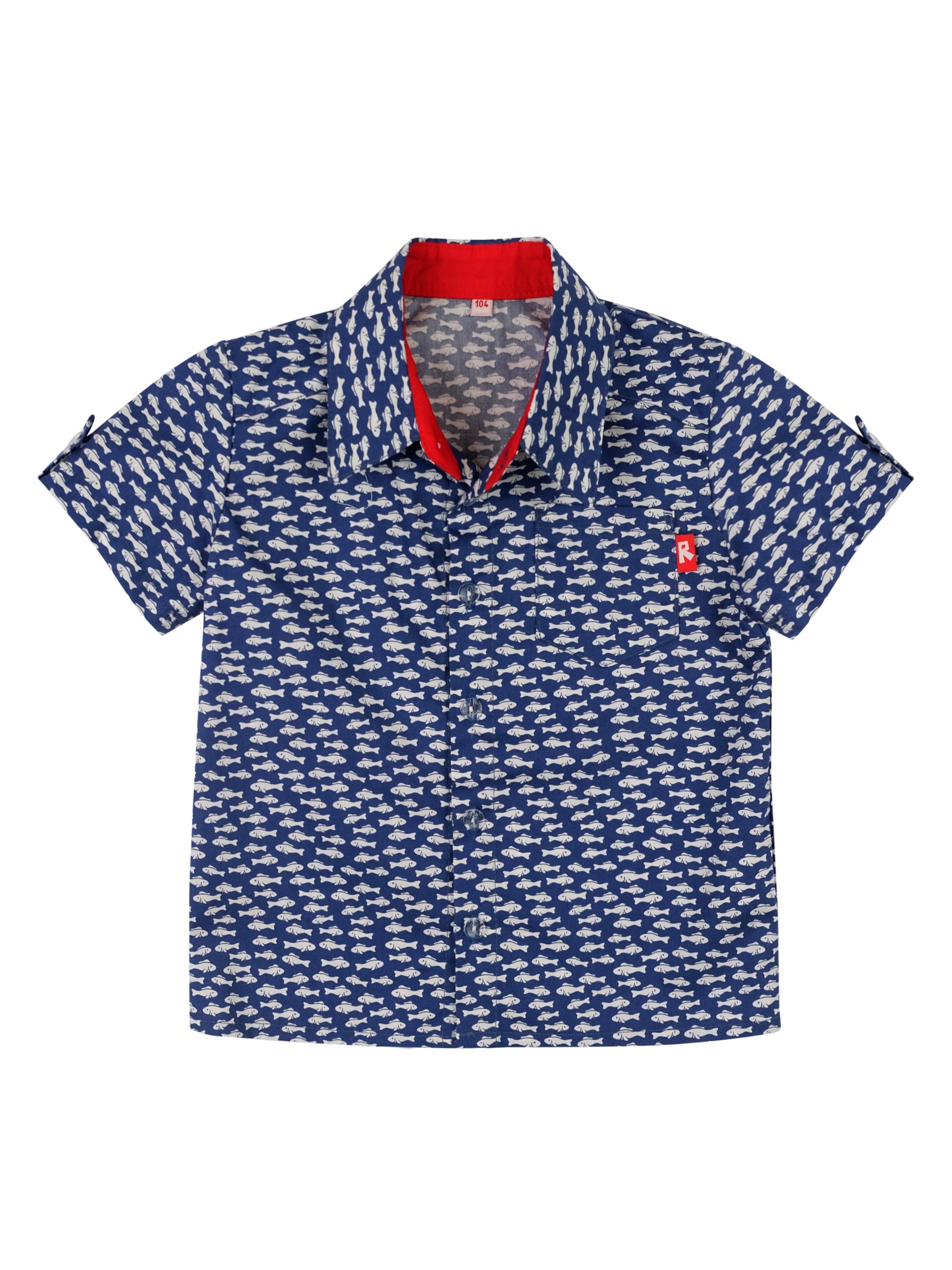 Рубашка для мальчика Reike синяя, RKS012SS20MRN navy, 86-52 18 мес.