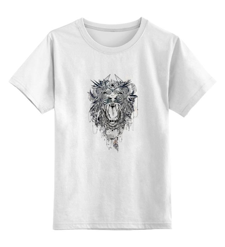 Детская футболка Printio Тигр.маска цв.белый р.128 0000000933573 по цене 790