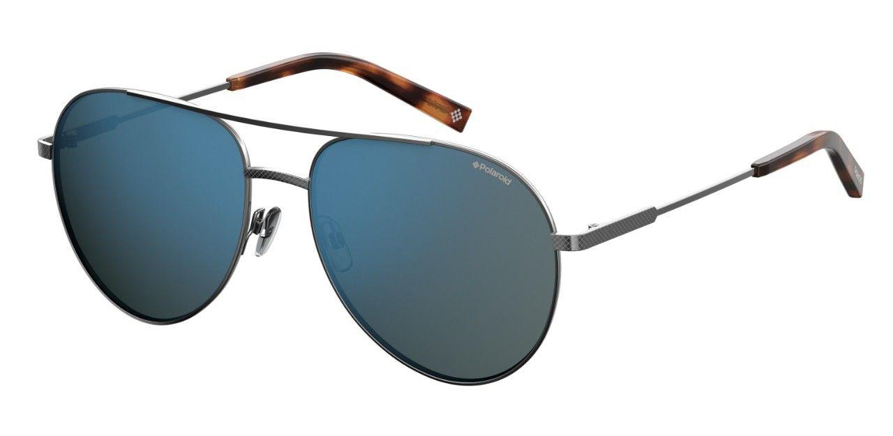 Солнцезащитные очки мужские POLAROID PLD 2069/F/S/X серебристые фото