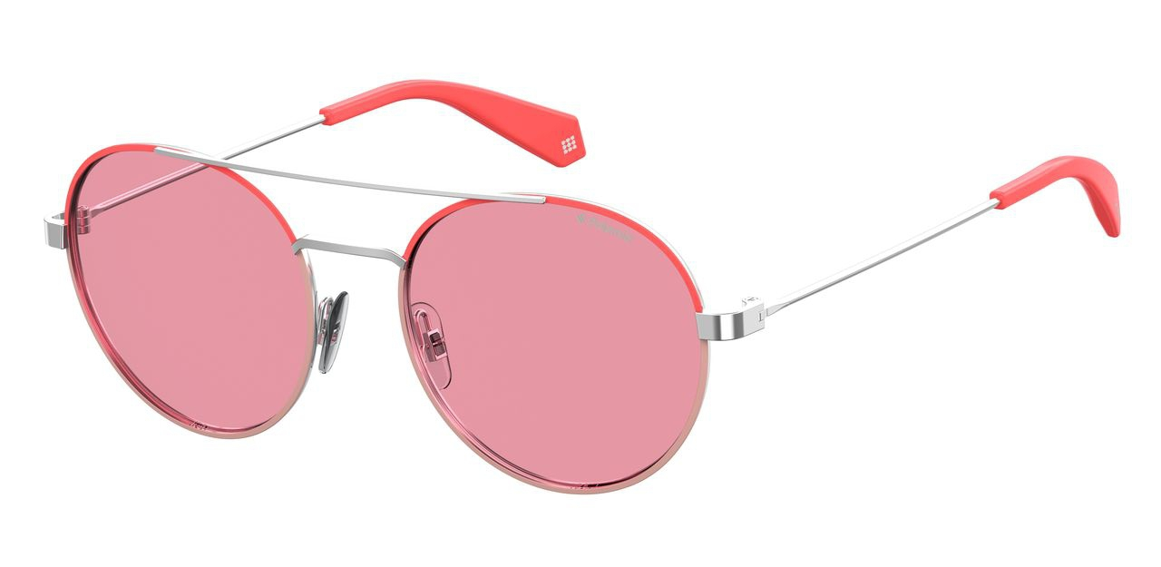 Солнцезащитные очки унисекс POLAROID PLD 6056/S серебристые фото