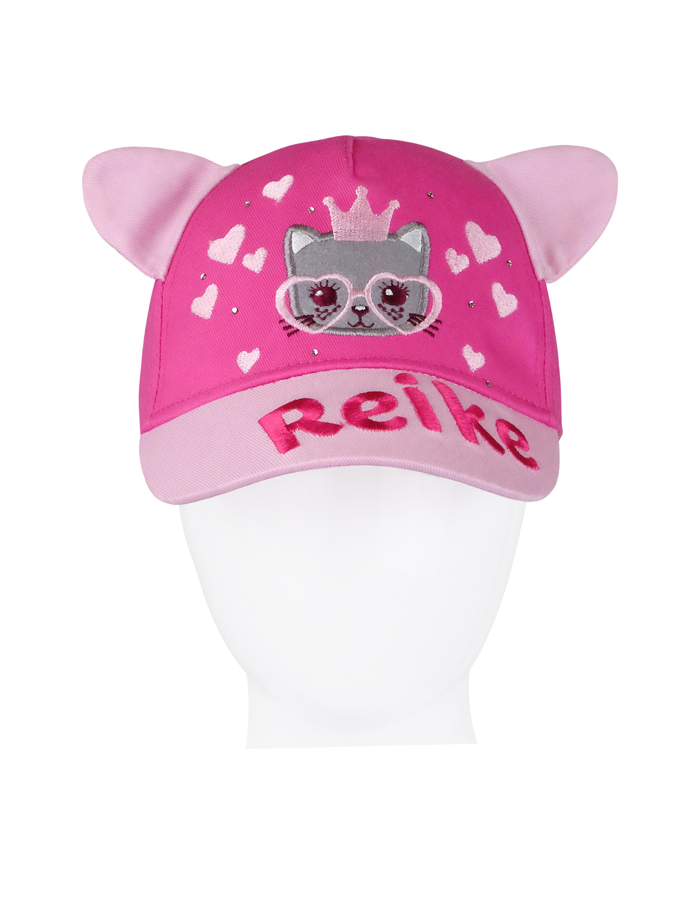 Купить Кепка для девочки Reike Kitty princess fuchsia, RWSS20-KIT-1 fuchsia, р.48,