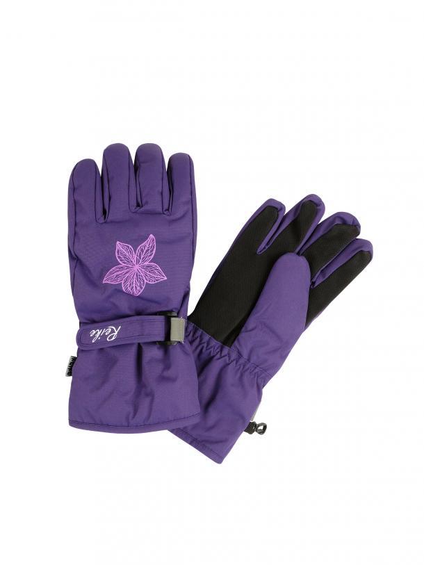 Перчатки для девочки Reike Winter flowers purple, RW20-WFL purple, р.10 /14 лет/ 19 см