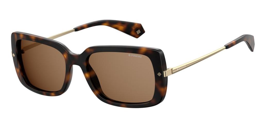 Солнцезащитные очки женские POLAROID PLD 4075/S коричневые фото