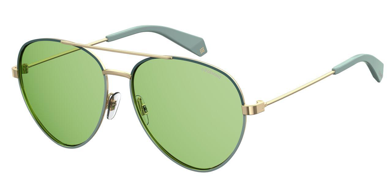 Солнцезащитные очки женские POLAROID PLD 6055/S золотистые фото