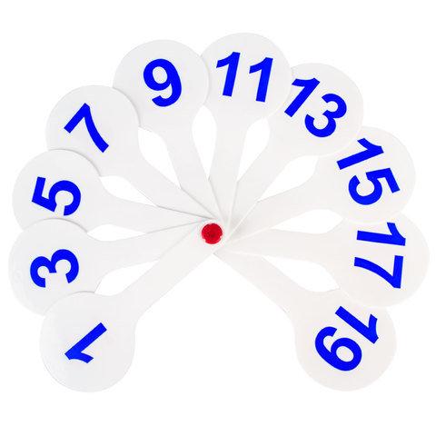 Веер касса Пифагор цифры от 1
