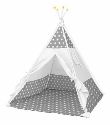 Палатка-вигвам детская Polini kids Звёзды, серый