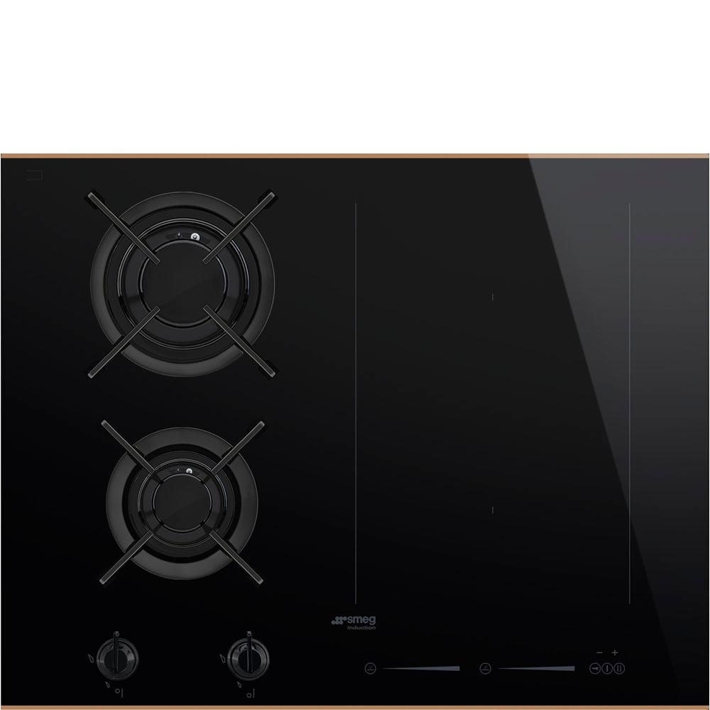 Встраиваемая комбинированная панель Smeg PM6621WLDR Black