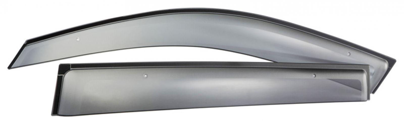 Оригинальные дефлекторы окон Jet brim для Toyota Highlander Luxury (2011+) Светло-дымчатые